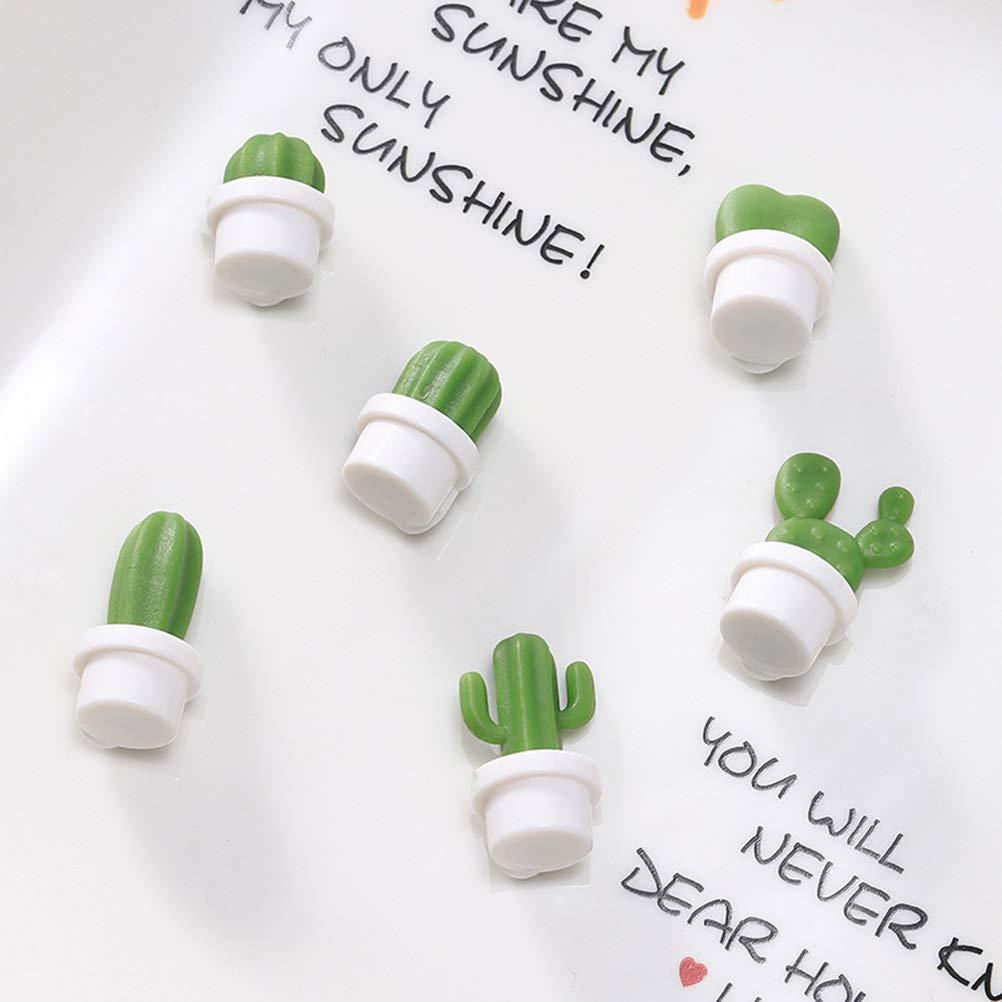 Vosarea 6 Piezas Imanes Nevera en Forma de Cactus Imanes Divertidos para Refrigerador Pizarra Cactus Decoraci/ón para Hogar Officina Cocina Restaurante