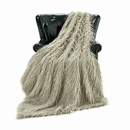Homey Forte Breathable Lightweight Blanket for Summer Thin Comforter Quilt Cooling Blanket Faux Fur Chair Throw for Living Room Mongolian Fur Style [50