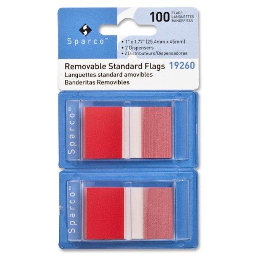 SPR19260 - Sparco Removable Standard Flags Dispenser ()