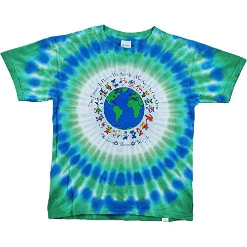Grateful Dead Bear Flag - Grateful Dead Boys' Flag Bears Tie Dye T-Shirt Youth Medium Multi