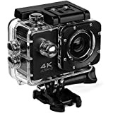 UGI Sport Action Camera Waterproof Cameras - HD 720P WIFI Underwater Camera Diving Camcorder with 19PCS Accessories for Kids,Snorkeling,Motorcycle,Bike,Helmet,Car,Ski and Water Sports
