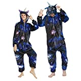 CASABACO Unicorn Onesie Adult Halloween Women Pajama Costume Men Animal Cosplay Christmas, Galaxy, XL