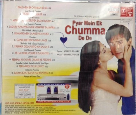 Various, Nikhil-Vinay - Pyar Mein Ek Chumma De De (Hindi CD) - Amazon.com Music