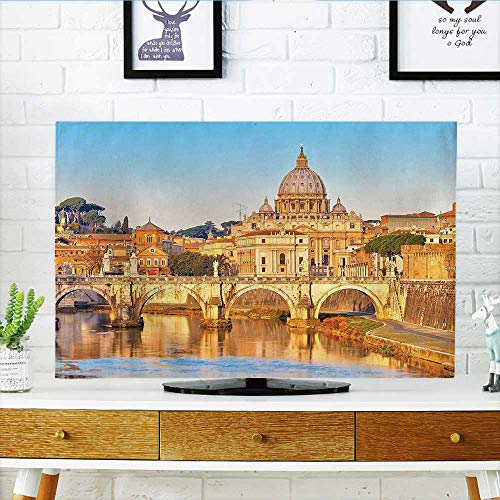 Tiber Collection - Jiahonghome Front Flip Top Collection Tiber and St Peter Landmark Monument Sunny Touristic Travel Destination View Print Front Flip Top W25 x H45 INCH/TV 47