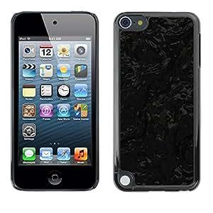 TopCaseStore / la caja del caucho duro de la cubierta de protección de la piel - Black Texture - Apple iPod Touch 5