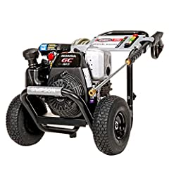 The SIMPSON MegaShot 3200 PSI at 2.5 GPM is ideal for use on siding, driveways, cars, RV's, paint prep and more. This is a perfect option for homeowners, because it's lightweight, easy to maneuver and can be transported by one person. You'll ...