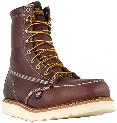 Thorogood Mens American Heritage 8 Moc Toe - Safety Toe Black Walnut
