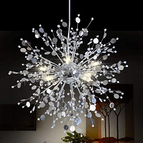 FidgetGear Modern Creative Crystal Dandelion LED Chandelier Pendant Lamp Ceiling Lights White 8 LED / 24W by FidgetGear (Image #1)