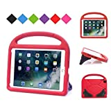 Kids Case for New iPad 9.7 2017&2018, BMOUO Light Weight Shockproof Silicone Handle Stand Kids Friendly Case for Apple iPad Air / iPad Air 2 / iPad Pro 9.7 / New iPad 9.7 inch (2017&2018 Version) Tablet , Red