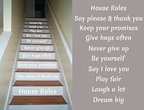 House Rules Decals Staircase Riser product image