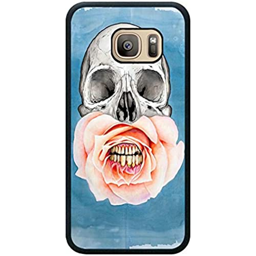 Minffc Unique With Beautiful Rose Mouth And Special Skull Protective Case Cover For Samsung Galaxy S7 Sales