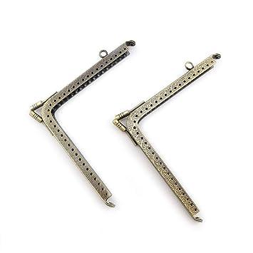 68f13baa5f7a7 RUBY-2 piezas Boquillas para bolsos y monederos Boquilla para fundas de  móvil Cierre de boquilla para bolso Cierre monederos boquilla de bolso para  ...