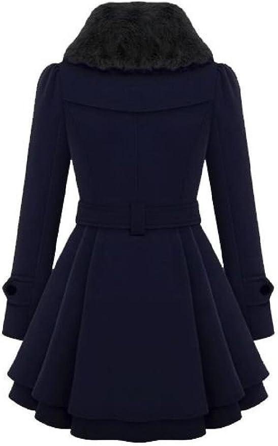 BOBOYU Mens Stitching Color Blocked Blazer Autumn Winter Wool Blended Trench Pea Coat Jacket