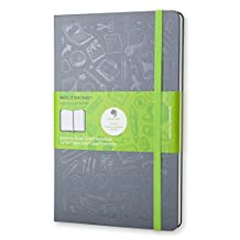 Moleskine Evernote Smart Notebook, Large, Slate Grey, Hard Cover (5 x 8.25)