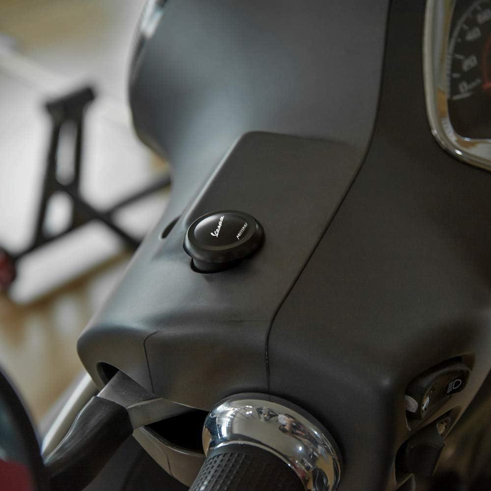 YUQINN Motorradteile 2ST Scooter Aluminium Spiegel Loch Blanking Platten-Abdeckung Zubeh/ör for Piaggio Vespa GTS300 GTS 300 300ie Color : Black