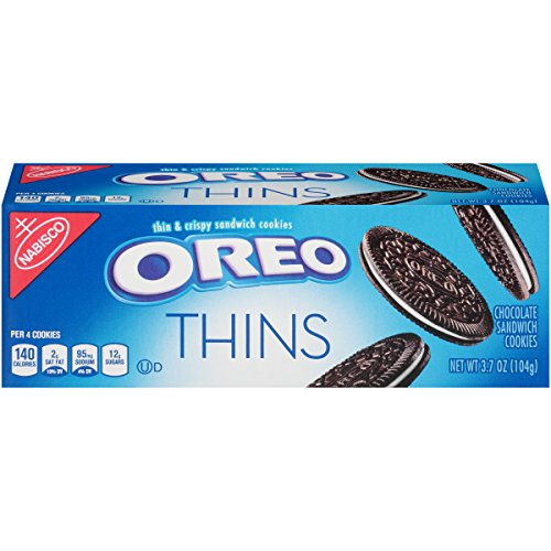 - Oreo Thins Chocolate Sandwich Cookies - Go Boxes, 3.7 Ounce (Pack of 12)