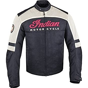 MENS BLACK LIGHTWEIGHT MESH MOTORCYCLE JACKET BY INDIAN MOTORCYCLE (XXL)
