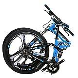Eurobike G4 Mountain Bike 26 Inches 3 Spoke Wheel Dual Suspension Folding Bike 21 Speed MTB Bicycle