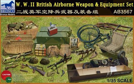 Bronco 1/35 WWII British Airborne Weapons & Equipment Set AB3567