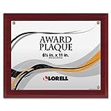 Wholesale CASE of 10 - Lorell Mahogany Award-a-Plaque-Award-A-Plaque, 8-1/2x11'', Mahogany
