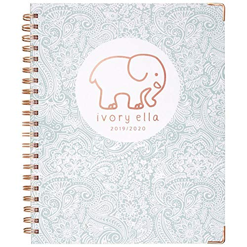 Cambridge Ivory Ella 2019-2020 Academic Year Weekly & Monthly Planner, Large, 8-1/2