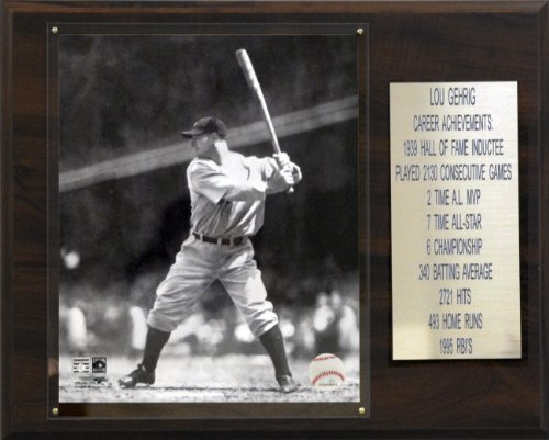 Mlb Stat - C&I Collectables MLB Lou Gehrig New York Yankees Career Stat Plaque
