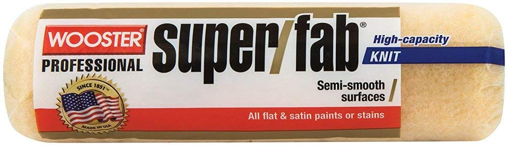 Wooster Brush R241-9 Super/Fab Roller Cover, 3/4-Inch Nap, Pack of 12