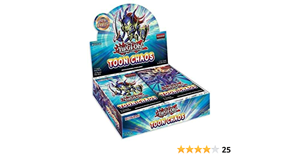 Yugioh Toon Chaos Factory Sealed Booster Box 24 Packs Unlimited Edition English