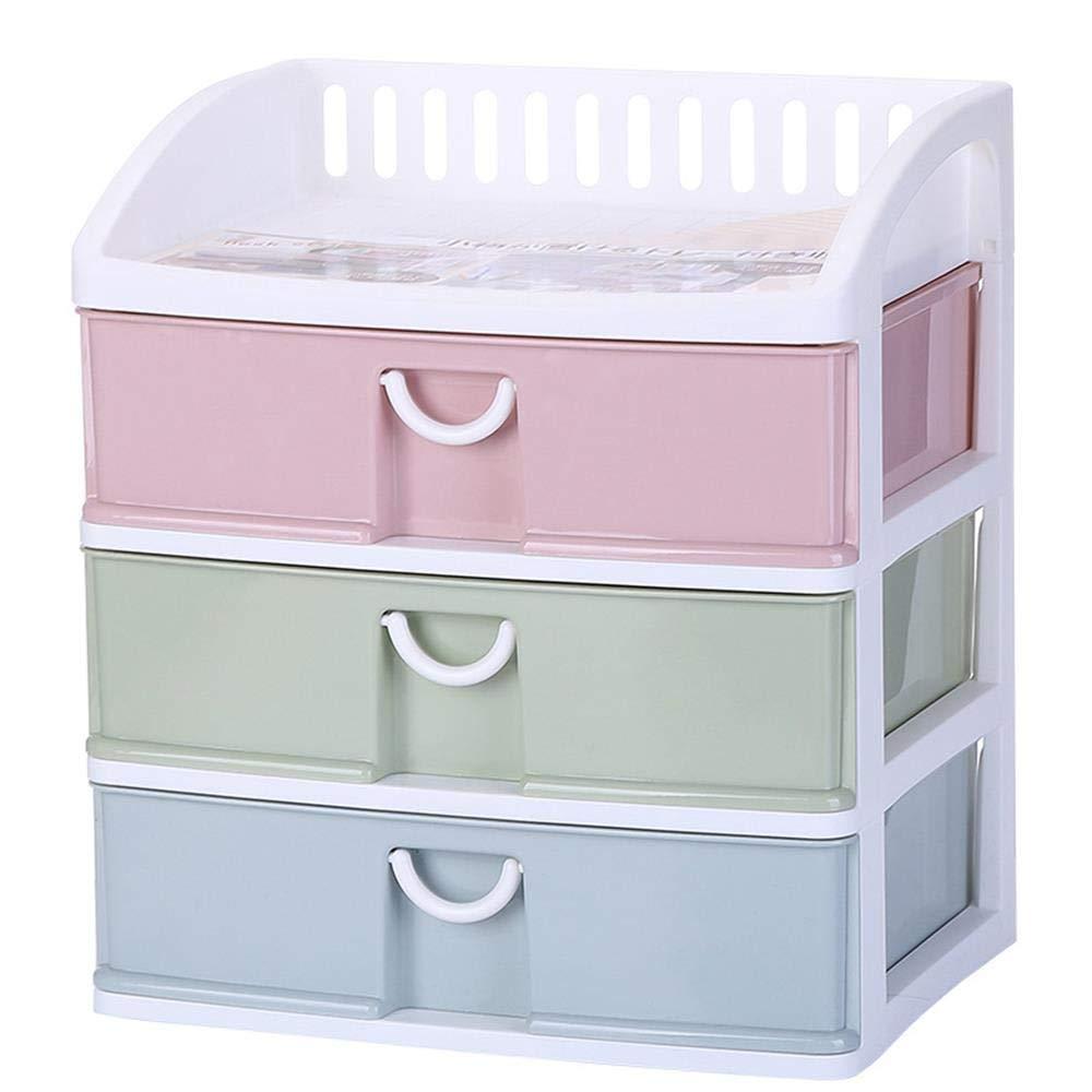Kainuoo オフィスステーショナリー引き出し多層プラスチック収納ボックス化粧品オーガナイザー (Color : Multi-colored) B07TS34W8L Multi-colored