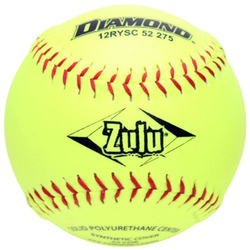 Diamond Sports ASA 12-Inch Slowpitch Synthetic Cover Softball (12-Pack)