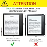 Fintie Tempered Glass Screen Protector for Kindle Oasis (9th Gen, 2017 Release ONLY) - [Scratch Resistant] Premium HD Clear [9H Hardness] Screen Protector for Amazon All-New 7 Kindle Oasis