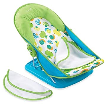 1f3b402815c Amazon.com   Summer Infant Bath Sling with Warming Wings in Blue   Baby