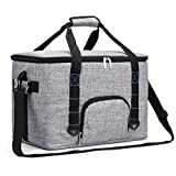 Cheap Amzbag Cooler Bag Ultra-large Insulated Case Collapsible Leak-proof Cool Box Organizer Insulated Shoulder Bag 50L 70-Cans For Family Outdoor Activity/Travel/Picnic/Hiking/BBQ/Party (Grey)
