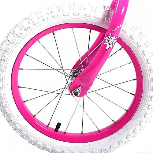 16'' Steel Frame Children BMX Girls Kids Bike Bicycle With Training Wheels by FDW (Image #3)