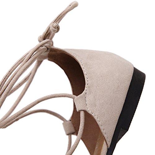 Scarpe Da Donna Sexy A Punta Incrociata Con Cinturino Alluncinetto