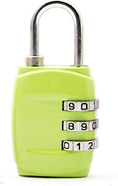 XCUGK Candado De Combinación, 4 Dígitos Candado De Seguridad De Viaje para Maletas De Viaje Estuche para Casilleros Mochila De Gimnasia Paquete TSA Candados De Seguridad (4 Pack),Verde: Amazon.es: Deportes y aire