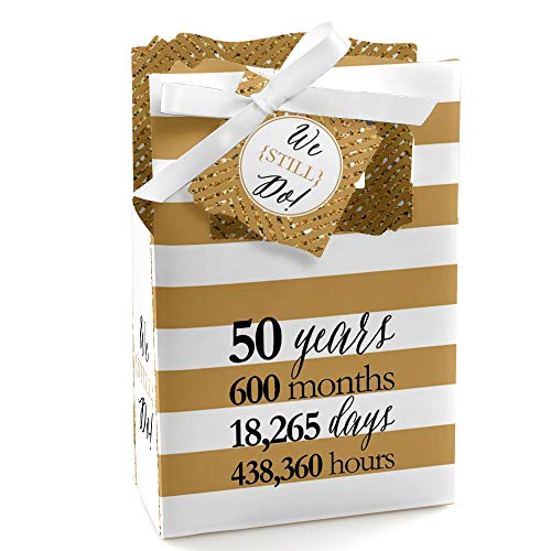 We Still Do - 50th Wedding Anniversary Party Favor Boxes - Set of 12 -