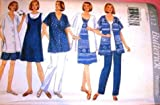 Butterick Sewing Pattern 4512 Misses' Maternity Shirt