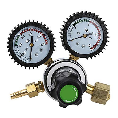 Lolicute CO2 Pressure Regulator,Carbon Dioxide Regulator Does Not Heat Table Pressure Reducing Valve Handle Switch Sealing