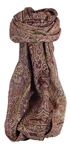 Muffler Scarf 2213 in Fine Pashmina Wool from the Heritage Range by Pashmina & Silk by Pashmina & Silk (Image #4)