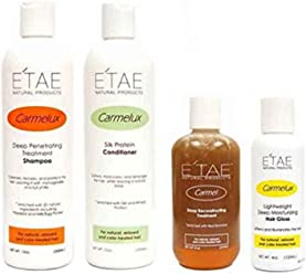 Etae Natural Products Carmelux Shampoo Conditioner Gloss Etae Carmel Treatment Combo Kit