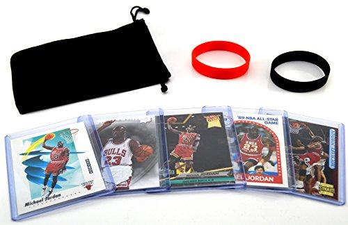 Michael Jordan MJ (5) Assorted Basketball Cards Bundle - Chicago Bulls Trading Cards - MVP # (Jordan Basketball Cards)
