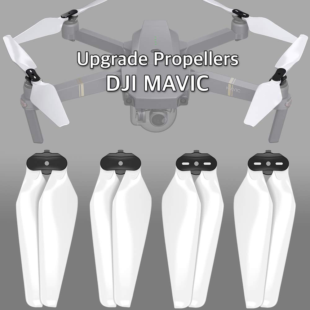 MAS Upgrade Propellers for DJI Mavic Pro & Pro Platinum in White - x4 in Set Master Airscrew