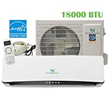 18000 Btu (1.5 Ton) 23.3 SEER Ductless System - Mini Split Air Conditioner, Inverter Heat Pump, Heating, Cooling, Dehumidification, Ventilation AC unit. Comes with 15 Feet Installation Kit. 208~230 VAC