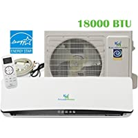 18000 Btu (1.5 Ton) 23.3 SEER Ductless System - Mini Split Air Conditioner, Inverter Heat Pump, Heating, Cooling, AC unit. With 15 Feet Installation Kit. 208~230 VAC