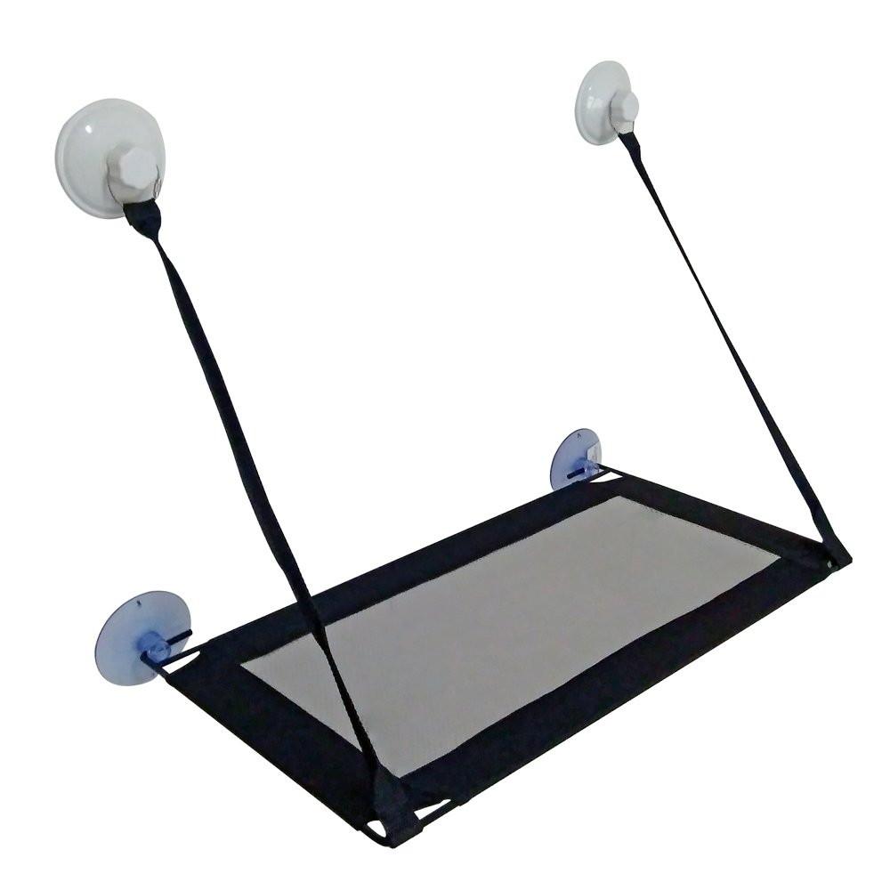 """BobbyPet Cat Window Perch - Single layer, 12.5""""x23.2"""".EXTERMELY Durable suction cups can holds HUGE CATS"""