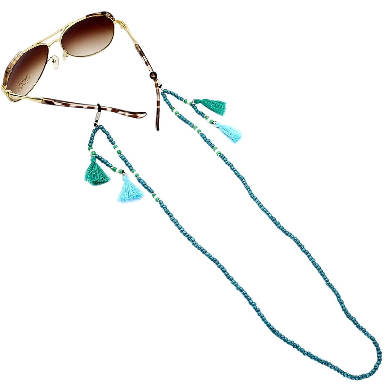 MagiDeal Cavo Occhiali Boemia Accessorio Moda Catena Con Perline Vetro  Comodo Da Indossare Corda Per Occhiali Da Vista- Blu: Amazon.it:  Abbigliamento