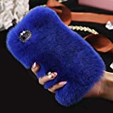 iPhone Case 8 Plus Girly INorton Fashion Soft Artificial Rabbit Hair Protective Cover Fit for Winter,Cute Slim Fit Lightweight Shockproof Sleeve Compatible with iPhone 8 Plus