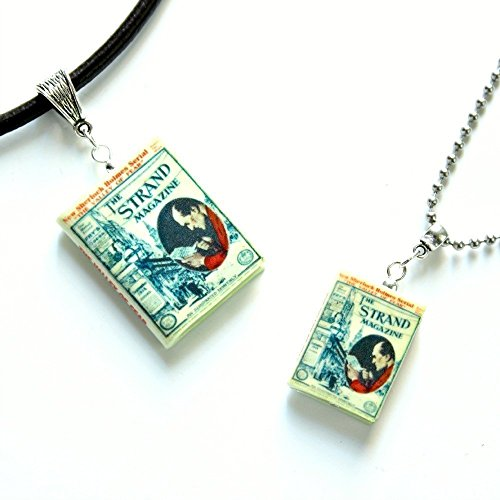SHERLOCK HOLMES Valley of Fear Polymer Clay Mini Book Pendant Necklace by Book Beads ()