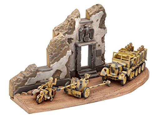 Revell of Germany Sd.Kfz. 11+ Pak 40 Building (Military Dioramas)